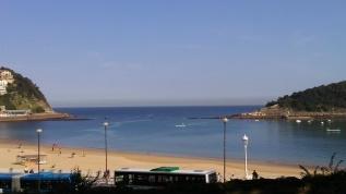 Playa de Ondarreta desde el Palacio