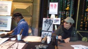 Pintura zen en la feria de arte