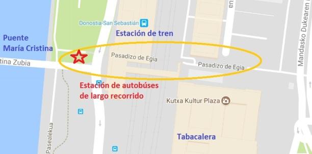 Mapa de la Estación de Autobuses