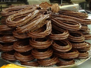 Riquísimos churros de chocolate