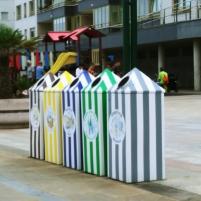 Originales recicladores en el Malecón