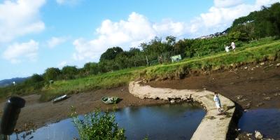 "Río Bidasoa y acceso a la ila ""Hiru Kanala"""